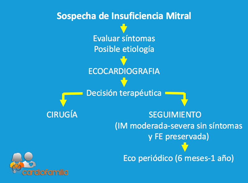 sospecha de insuficiencia mitral
