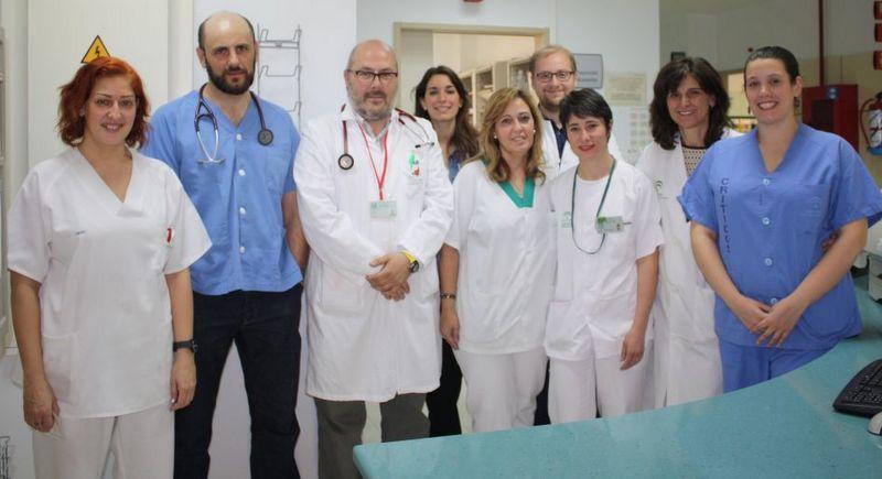 Profesionales de la Unidad del Corazón del Hospital Clínico Universitario Virgen de la Victoria