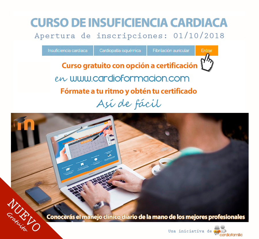 CURSO GRATIS INSUFICIENCIA CARDIACA CARDIOFORMACION